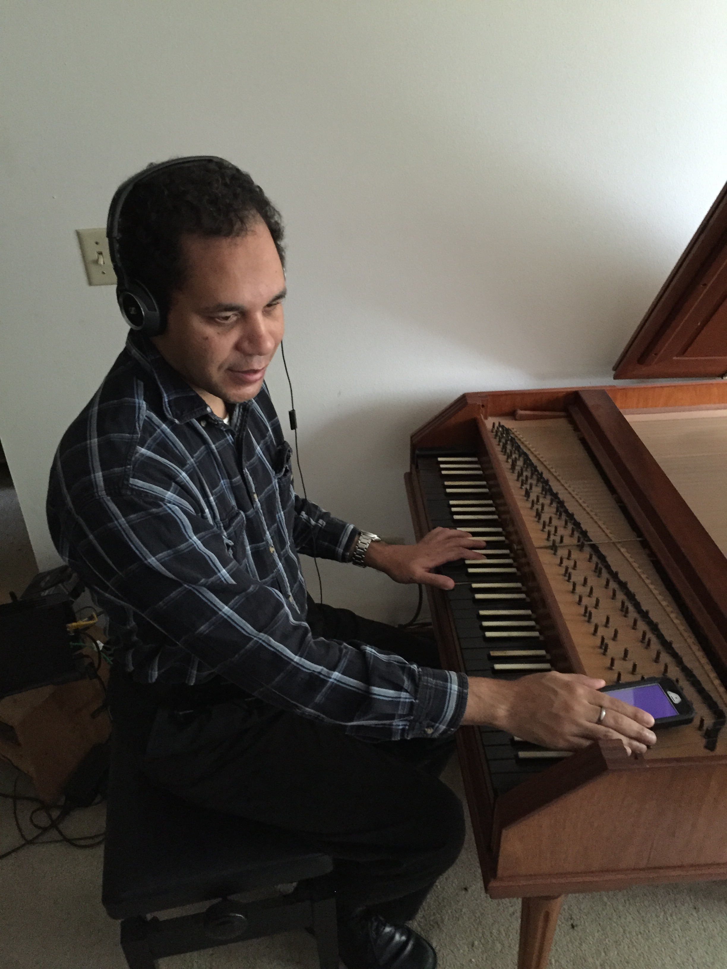 Kevin who uses accessible technology also plays the forte piano